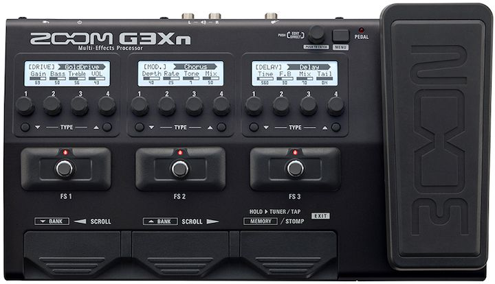 Zoom G3Xn. New multi-effects processor fitted with Zoom's latest DSP technology without complicating the controls, thanks to its easy to use stombox like layout.