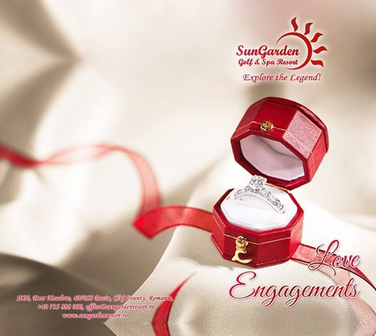 Celebrate your love by making the most beautiful engagement ever! Make us your accomplices! Details & Reservations:  http://sungardenresort.ro/news-archive/174-love-engagements
