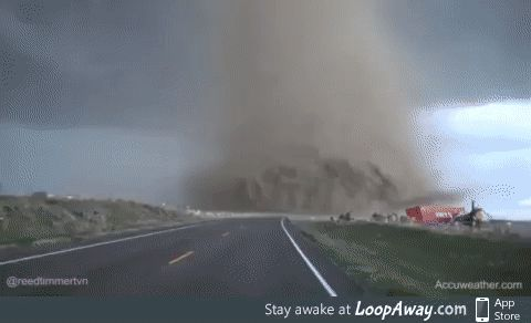 Close proximity to a tornado