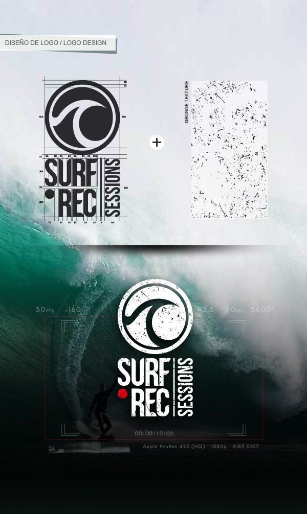 Surf Rec Sessions - logo design by Marco Gutiérrez, via Behance
