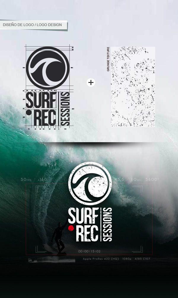 Surf Rec Sessions - logo design by Marco Gutiérrez, via Behance