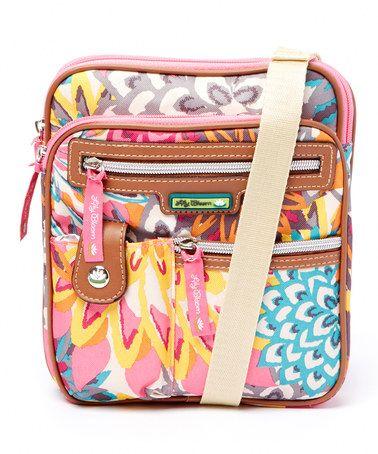 This Blue & Orange Garden Gigi Crossbody Bag by Lily Bloom is perfect! #zulilyfinds