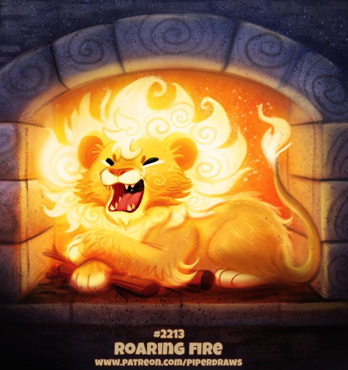 Daily Paint 2213. Roaring Fire by Cryptid-Creations | Art ...