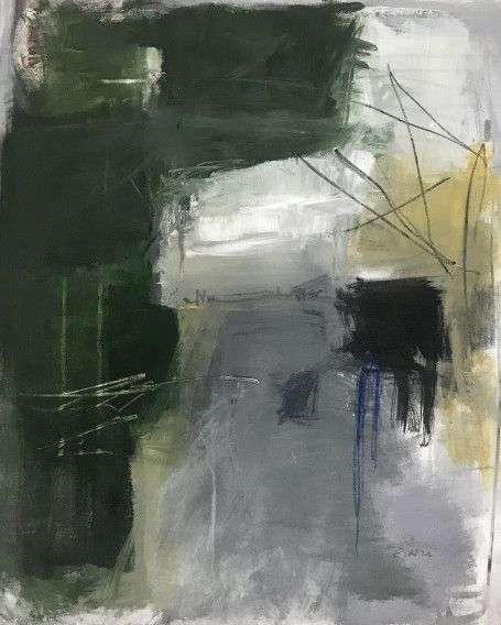 """Jennifer Rivera, """"Until There Was You"""", 22"""" X 18"""", acrylic graphite and pastel stick on canvas"""
