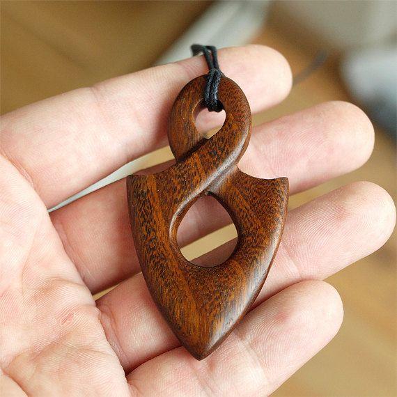 Wood twist Infinity necklace Infinity pendant Maori by BDSart, €38.00