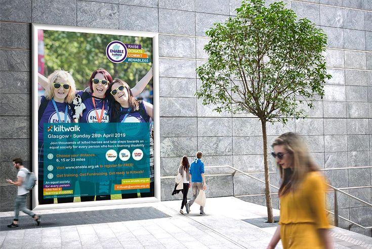 #Posters for #advertising ENABLE Scotland's #Kiltwalk # ...