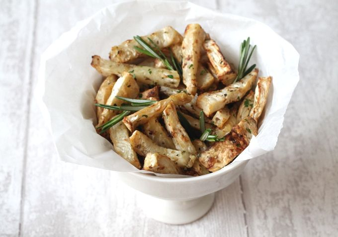 Garlic & Herb Celeriac Fries - My Fussy Eater