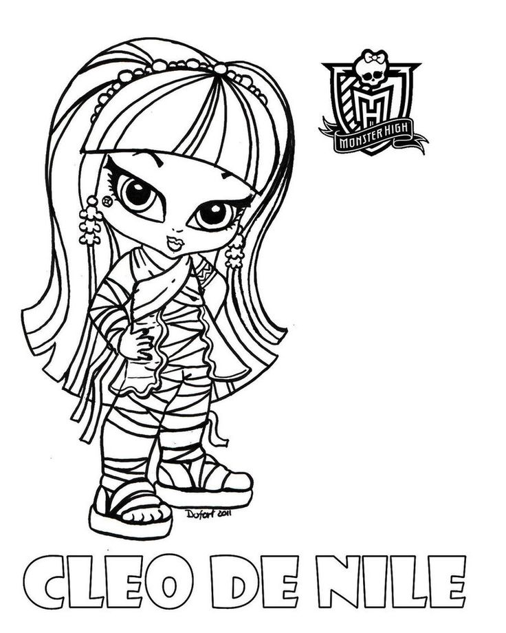baby cleo printable coloring sheet from jadedragonne at deviant art - Monster High Chibi Coloring Pages
