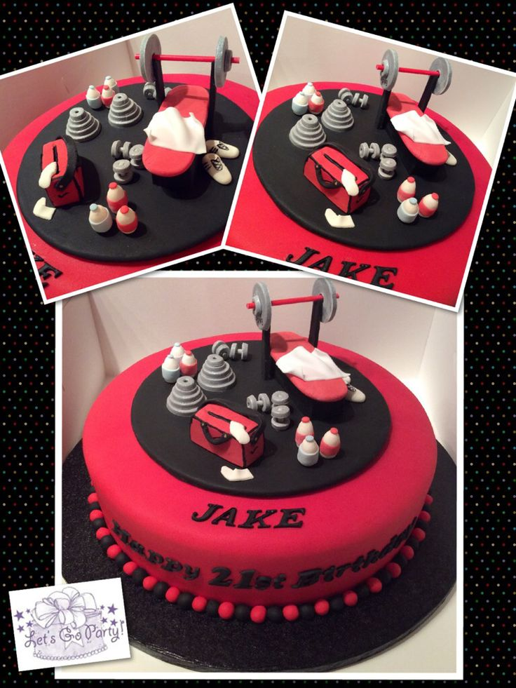 Personal fitness trainer cake for 21st birthday