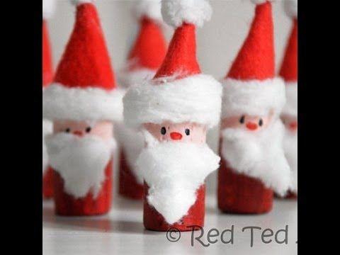 Kids Craft: Santa Corks (