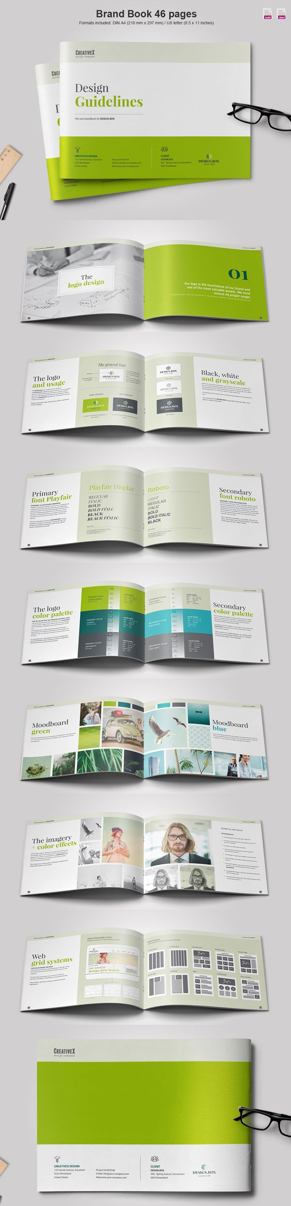 Landscape Brand Book Brochure Template                                                                                                                                                                                 More