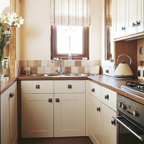 Kitchen Designs, The Elegant Design Of The Small Country Kitchen With The  White Cabinet Also The Gray Floor With Glass Window On White Wall With  White Wall ... Part 40