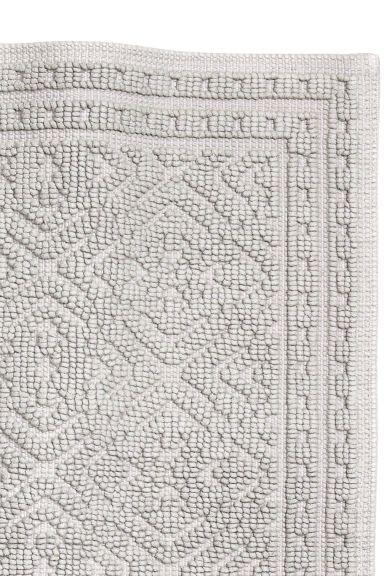 Jacquard-weave bath mat - Light grey - Home All   H&M CA