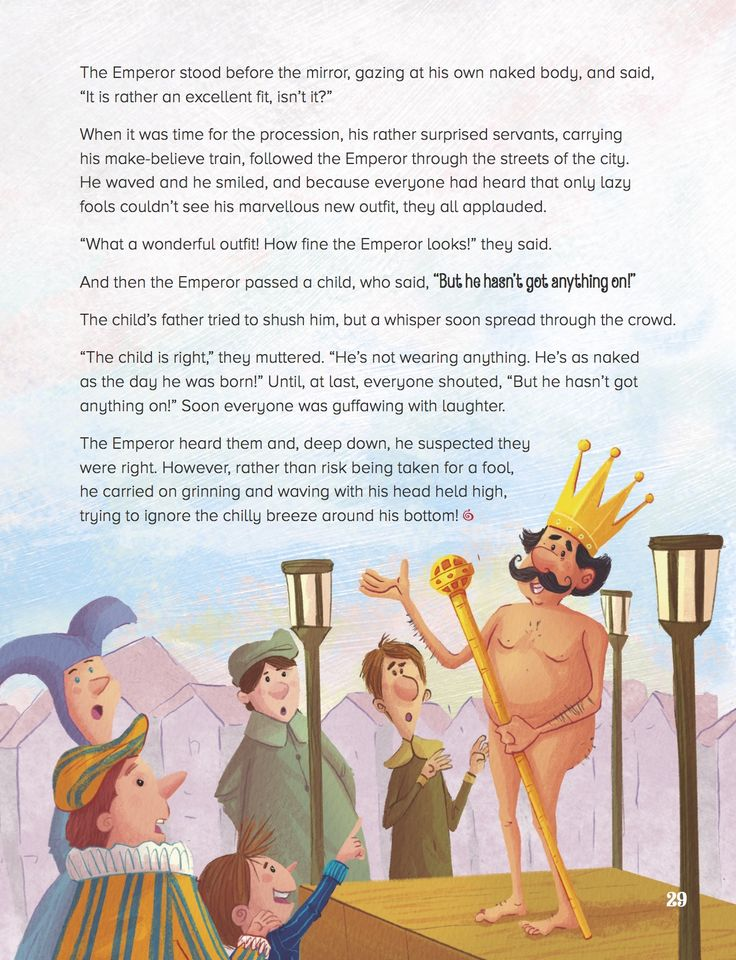 Check out the cheeky emperor in The Emperor's New Clothes (Storytime Issue 30)! Art by Tel Coelho (http://telcoelho.blogspot.co.uk) ~ STORYTIMEMAGAZINE.COM