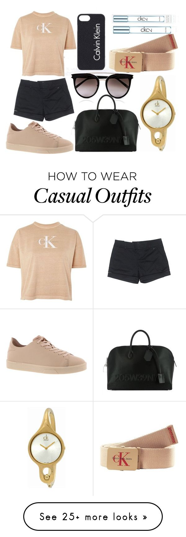 """""""Casual Look With Calvin Klein"""" by mackenzieq on Polyvore featuring Calvin Klein"""