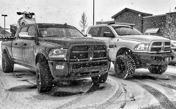 Just another snow day #sleddeck | Dodge Ram