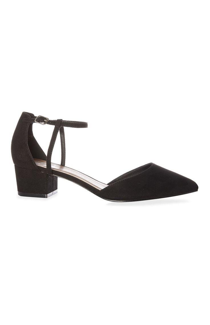 Primark - Zapatos negros de tacón block bajo