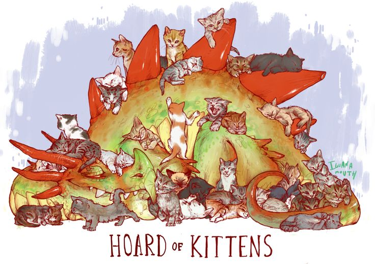 iguanamouth: UNUSUAL HOARD commission for mark, a whole bunch of sleepy tiny kitties