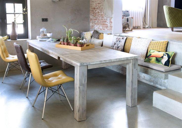 Collectie Prima-Lux en Idee+: Robuuste uitschuifbare tafel en stoelen verkrijgbaar in stof  of leder, keuze uit verschillende onderstellen