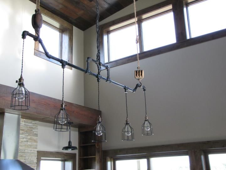 Badass Industrial Light Fixture Utilizing Black Iron