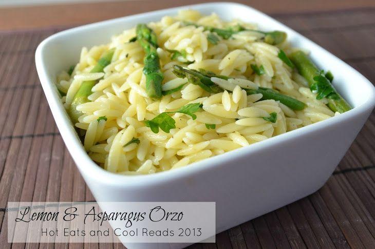 Lemon and Asparagus Orzo Recipe with water, orzo, fresh asparagus, butter, fresh lemon juice, grated lemon zest, fresh parsley, salt, black pepper