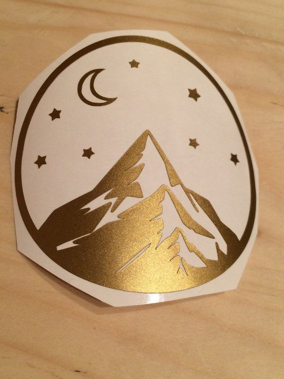 Mountain Vinyl Decal Vinyl Stickers Laptop Decal Car by LunaSavita