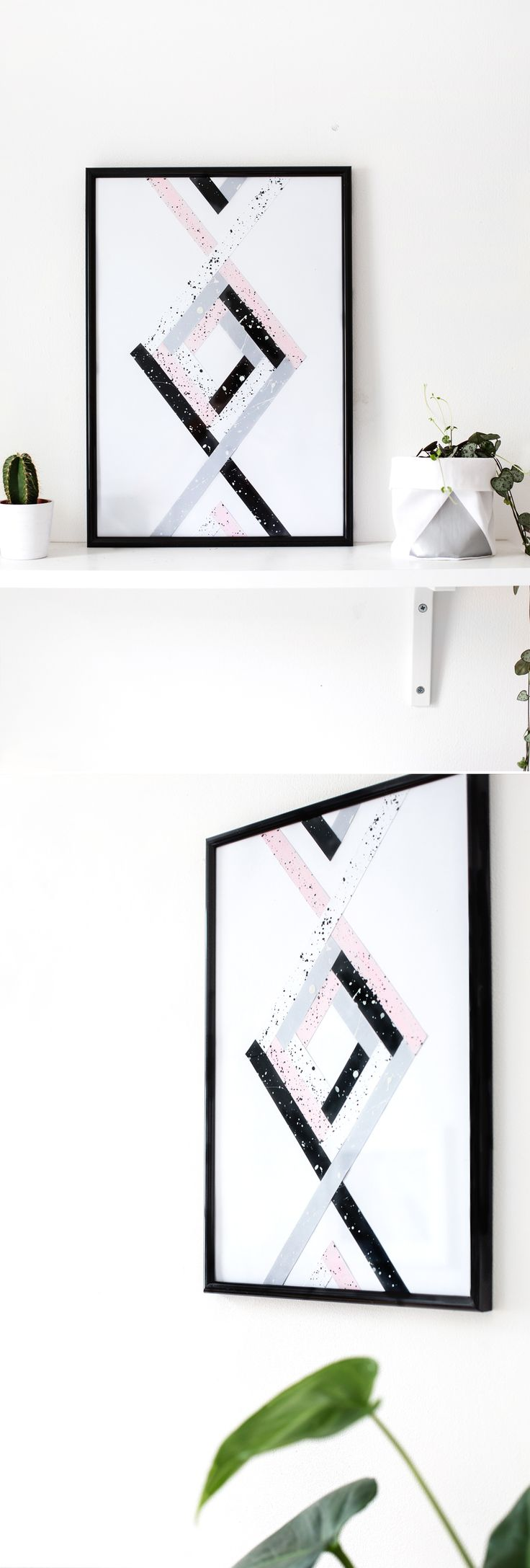 DIY geometric wall art | the lovely drawer