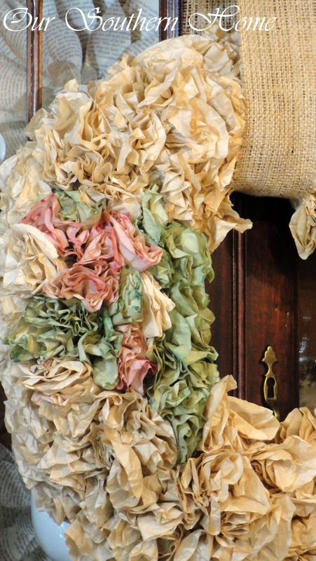 Coffee Filter Wreath Tutorial - Our Southern Home