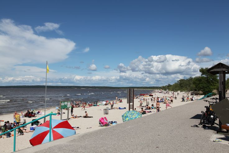 Manitoba has several beautiful beaches located on the outskirts of Winnipeg. Most noted is Grand Beach with it's boardwalk and live entertainment and concessions available all summer long.