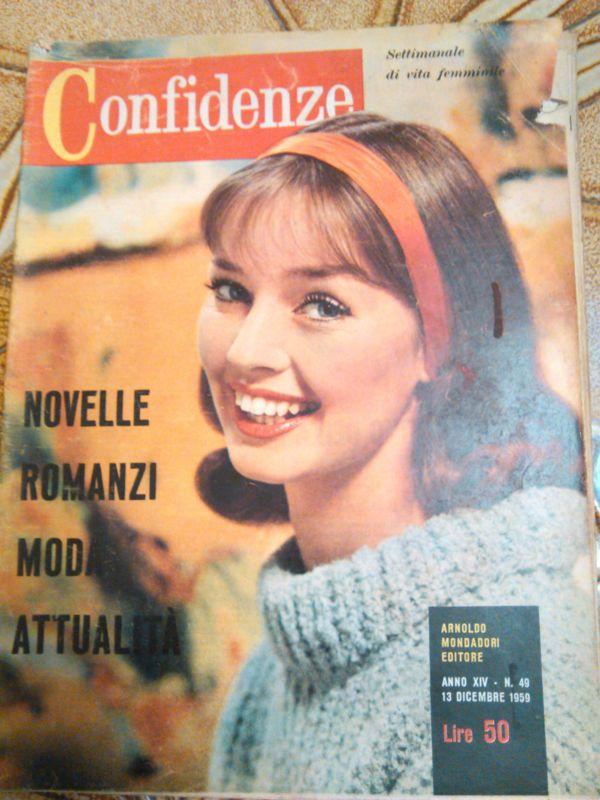 rivista confidenze settimanale di vita femminile 1959 n.49
