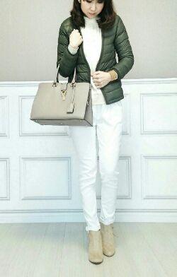 白のサルエルパンツは上品に着たいときに最適♪40代アラフォー女性におすすめのサルエルパンツ♡