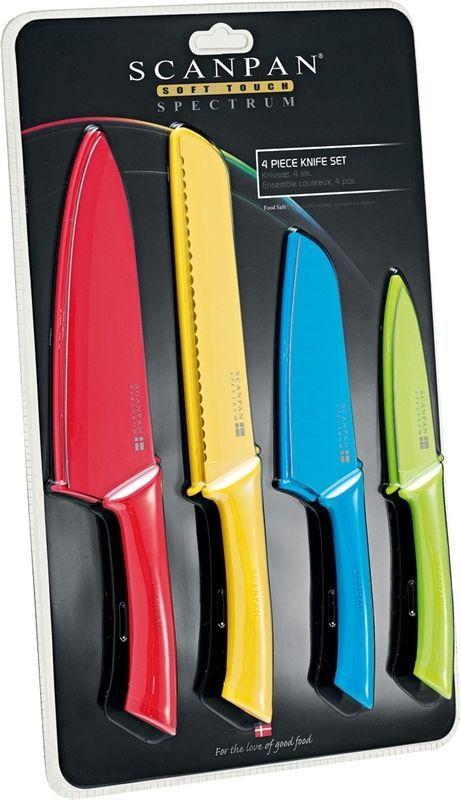 Scanpan 4 Piece Coloured Knife Set - BNIP
