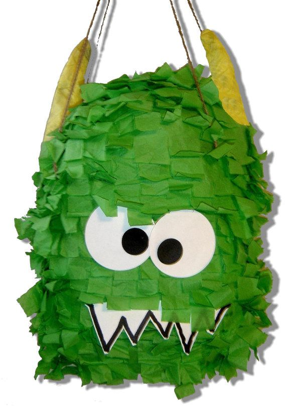 Monster Piñata /Birthday Monster /1st Birthday /Terrible Two Monster/Green Monster pinata