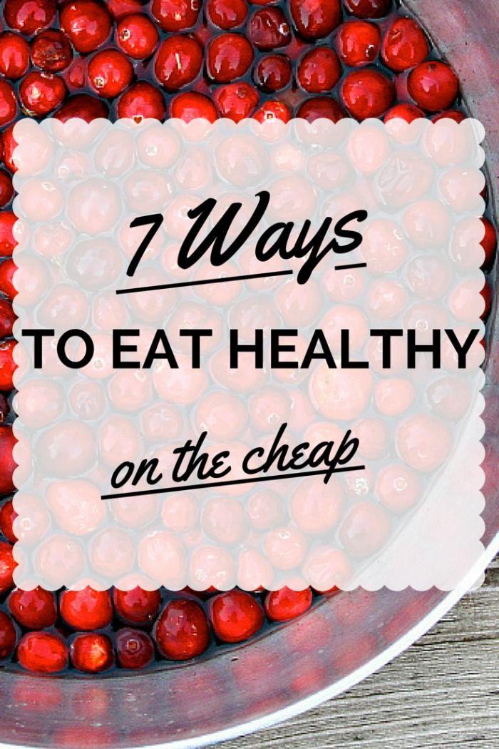 Cheap Healthy Food Budget