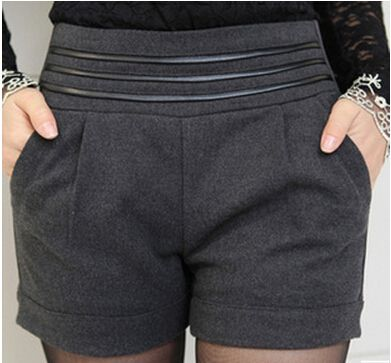Barato 2014 moda cintura elástica Plus Size Boot Cut hetero curtos Femininos de lã Casual quente outono inverno mulheres Shorts, Compro Qualidade Shorts diretamente de fornecedores da China:                 modelo:  Inverno bermuda mulheres           material:  Alta qualidade de lã de materiais