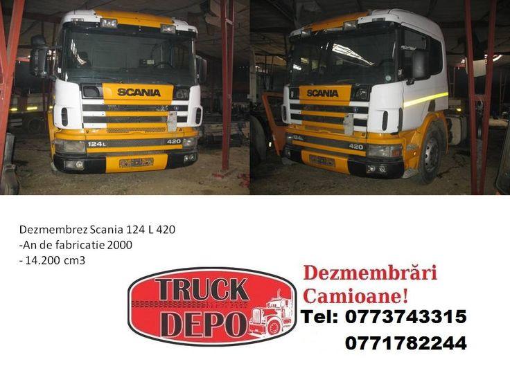 Dezmembrez Scania 124 L .Pentru mai multe detalii, contactati-ne: 0773 743 315, 0771 782 244, 0771 783 686, 0365 424 682, office@truckdepo.ro .