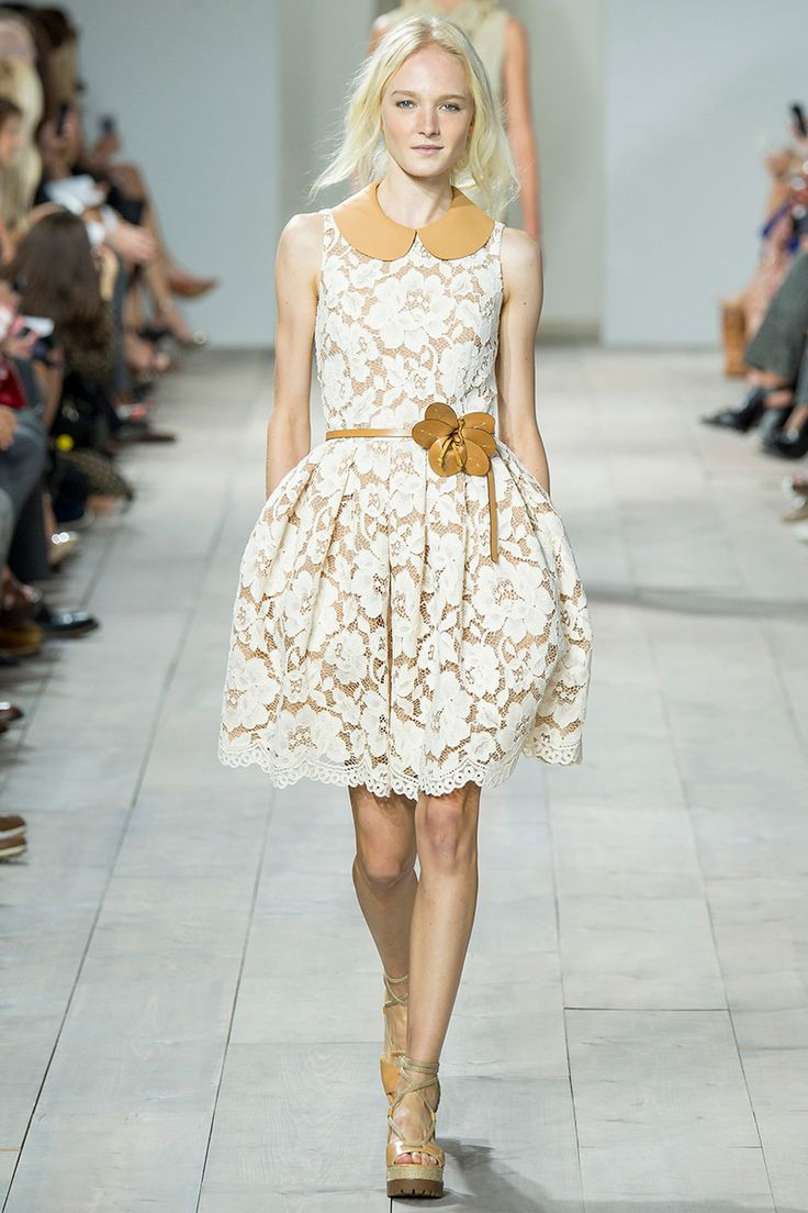 Michael Kors Spring 2015 RTW Floral Lace Dress Fashion Trends 2015