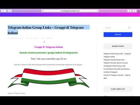 Telegram italian Group Links – Gruppi di Telegram italiani | Get