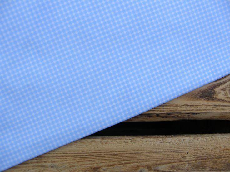 Tkanina bawełniana niebieska krateczka 125g/m2