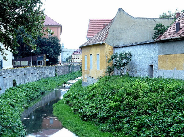 Small river through - Eger, Hungary
