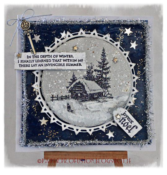 Paper Profusion: Snowy cabin