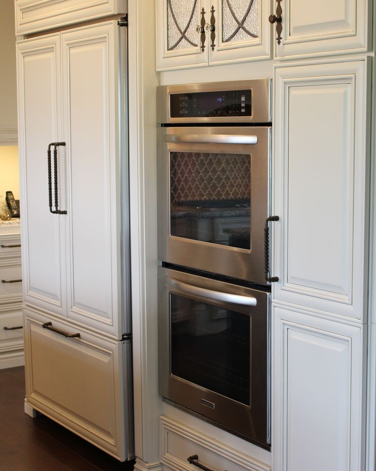 Kitchen Designs With Wall Ovens ~ Double wall oven and quot counter depth refrigerator that