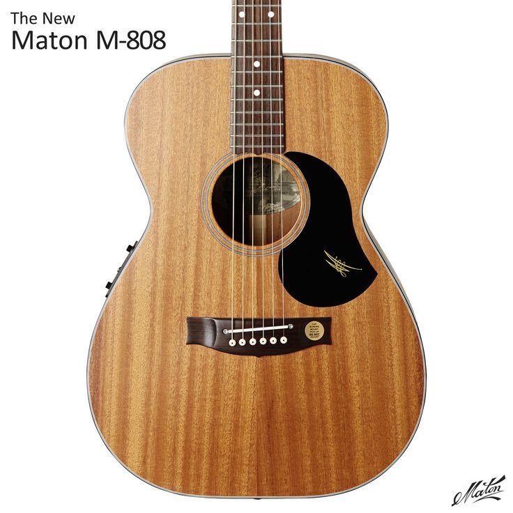 The New Maton M-808. acoustic guitar handmade mahogany - http://go.maton.com.au/MatonM808