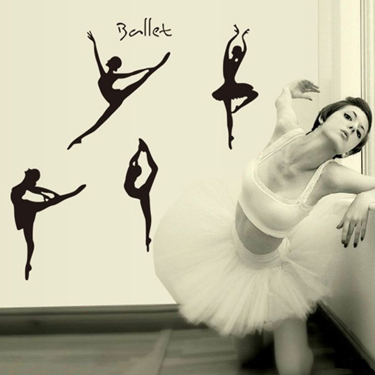 DIY Wall Sticker Wall Decals Lovely Ballet Girls Bedroom Kids Baby Poster Stickers For Home Decor Decoration Dance Studio Ballet