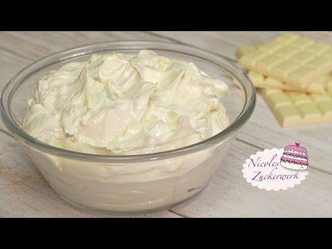 White-Chocolate-Buttercream | weiße Schoko-Buttercreme  | von Nicoles Zu...