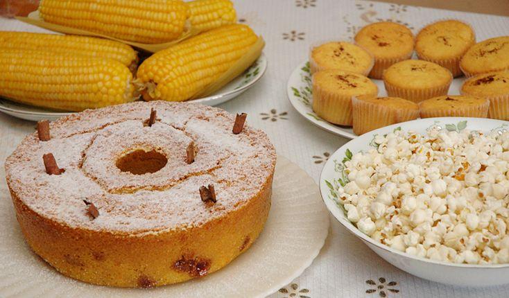 Pratos feitos  de milho