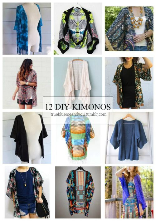 DIY 12 Favorite Kimono Tutorials from True Blue Me & You.I...