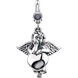 Sterling Silver Angel with Heart Charm Pendant $39.99