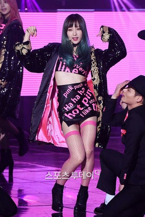 Imagen De Hot Pink Kpop And Hani | EXID | Pinterest | Kpop Hot Pink And Stage Outfits