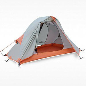 Hewolf  Waterproof 4 Seasons 1 Man Tent.Great for Trekking, Hiking and Camping.